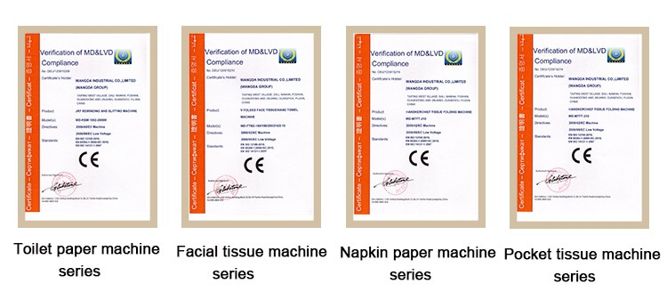 CE certification of toilet roll packing machine